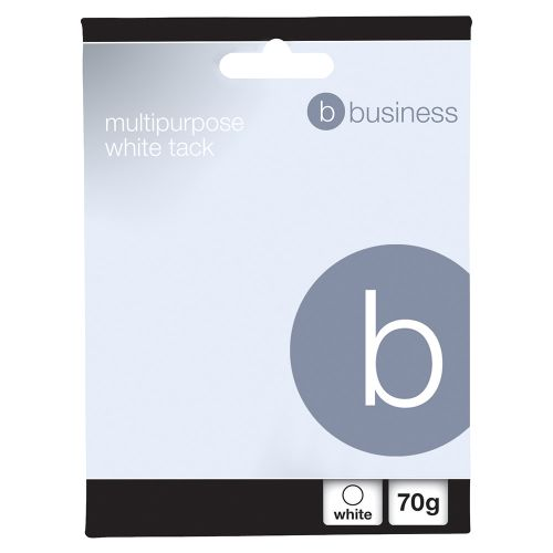 Business Multipurpose Tack Adhesive Re-usable Non-toxic 70g White [Pack 12]