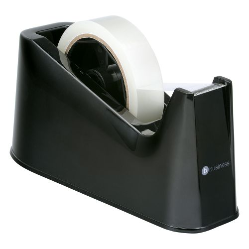 Business Tape Dispenser Desktop Weighted Non-slip Roll Capacity 25mm Width 66m Length Black