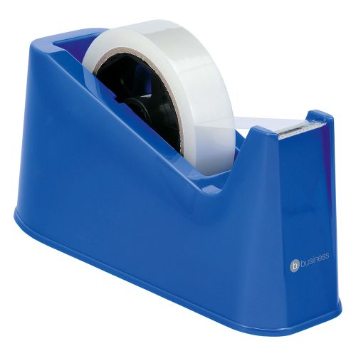 Business Tape Dispenser Desktop Weighted Non-slip Roll Capacity 25mm Width 66m Length Blue