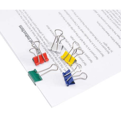 Business Foldback Clips 19mm Assorted [Pack 12]