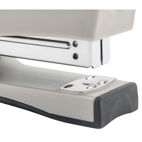Business Half Strip Stand Up Stapler 20 Sheet Capacity Takes 26/6 and 24/6 Staples Silver/Black