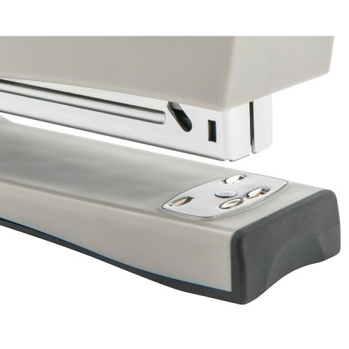Business Stapler Full Strip Stand Up Soft Grip Capacity 20 Sheets Silver/Black
