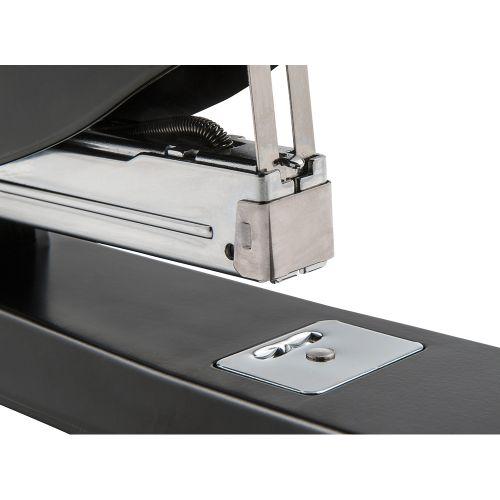 Business Multi-Purpose Long Handle Stapler 2-50 Sheet Capacity Takes 26/6 or 24/6 Staples Black