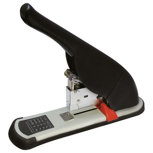 Business Stapler Heavy Duty Office Lever Arm All-Steel Capacity 100 Sheets Black