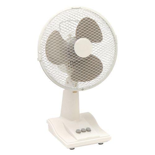 Business Desk Fan Oscillating Tilt and Lock 48.5Db 3 Speed H480mm Dia.305mm