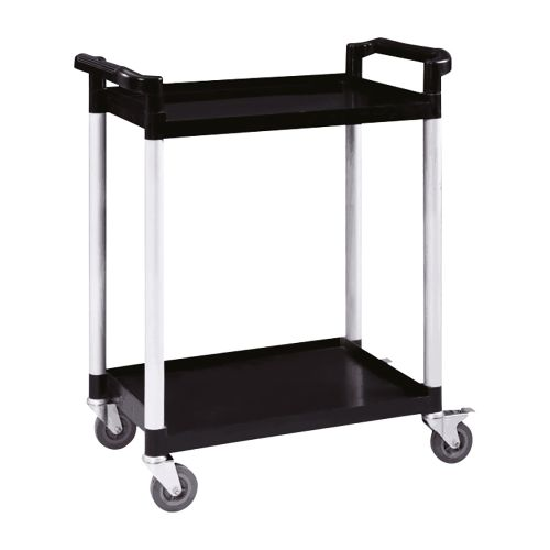 Business Utility Tray Trolley Standard 2 Shelf Capacity 100kg