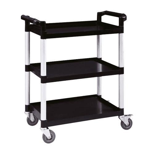 Business Utility Tray Trolley Standard 3 Shelf Capacity 150kg