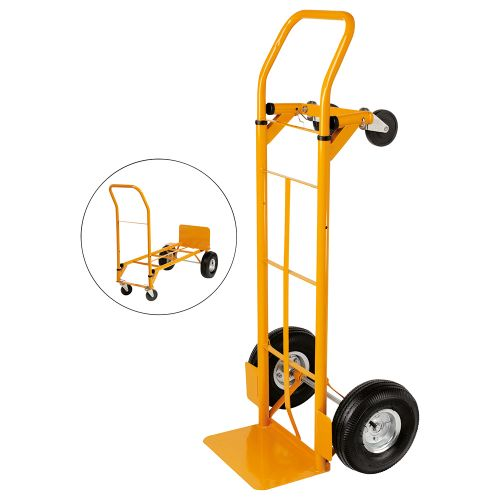 Business Universal Hand Trolley and Platform Truck Capacity 250kg Foot Size W550xL460mm
