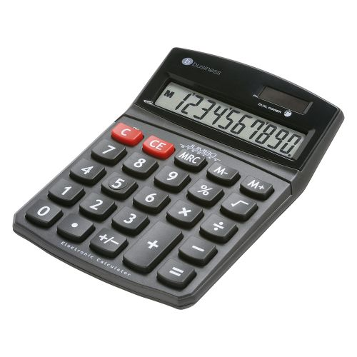 Business Calculator Desktop Battery/Solar-power 10 Digit 3 Key Memory