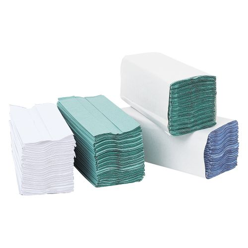 Business Hand Towel C-Fold One-Ply Recycled Size 230x310mm 200 Towels Per Sleeve White [Pack 12]