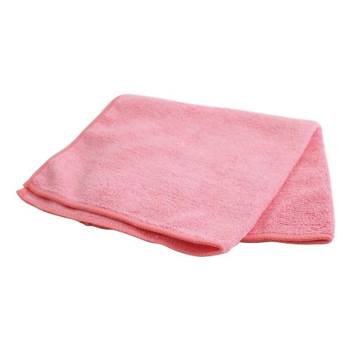 Business Microfibre Cleaning Cloths Colour-coded for Dry or Damp Multi Surface Use Red [Pack 6]