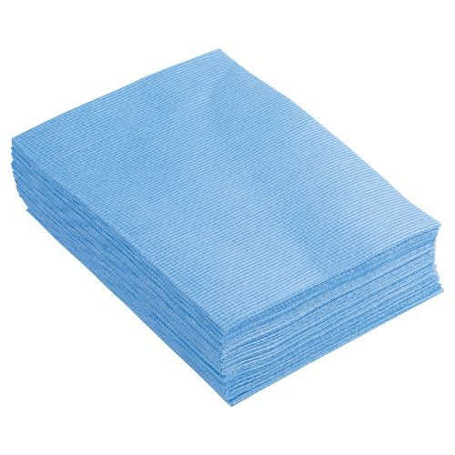 Business Cleaning Cloths Anti-microbial Heavy-duty 76gsm W500xL300mm Blue [Pack 25]