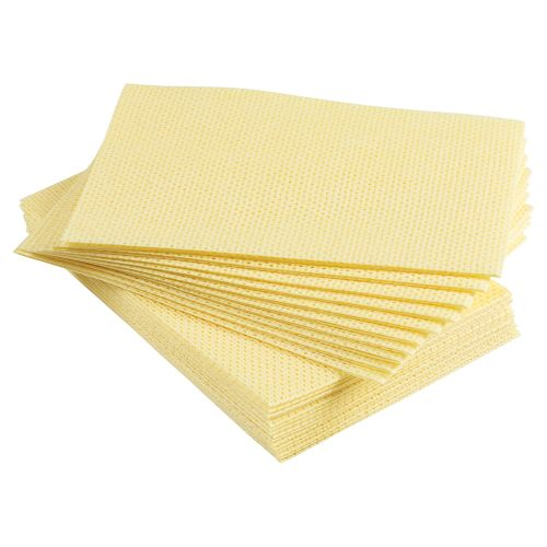 Business Cleaning Cloths Anti-microbial Heavy-duty 76gsm W500xL300mm Yellow [Pack 25]