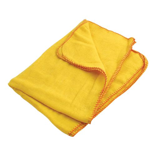 Business Yellow Dusters 100 per Cent Cotton [Pack 10]