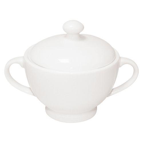 Business Sugar Bowl and Jug Fine Bone China White