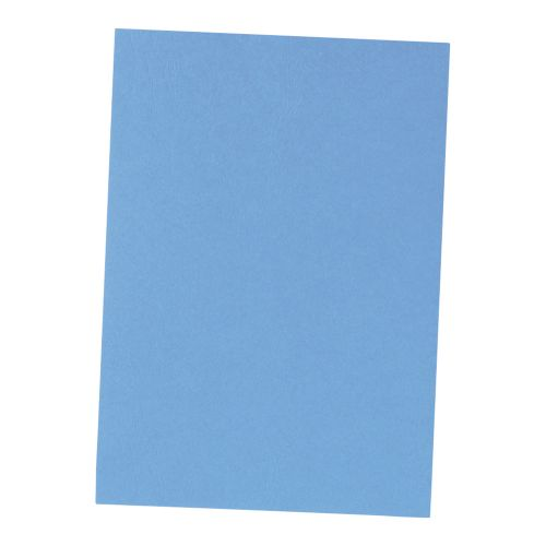 Business Binding Covers 240gsm Leathergrain A4 Blue [Pack 100]
