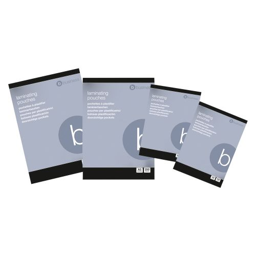 Business Laminating Pouches 150 Micron for A4 Gloss [Pack 100]