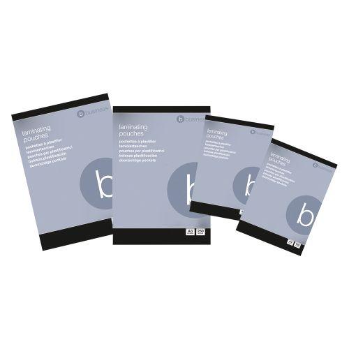 Business Laminating Pouches 250 Micron for A4 Gloss [Pack 100]