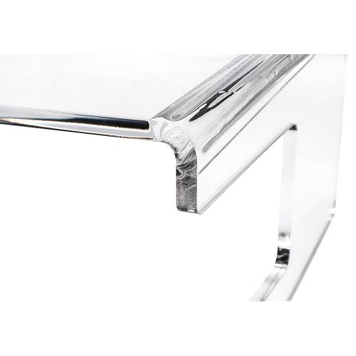 Business Monitor Stand Acrylic Capacity 21inch W300xD230xH120mm Clear