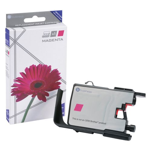 Business Remanufactured Inkjet Cartridge Page Life 600pp Magenta [Brother LC1240M Alternative]