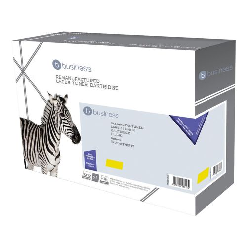 Business Remanufactured Laser Toner Cartridge Page Life 1400pp [Brother TN241Y Alternative] Yellow