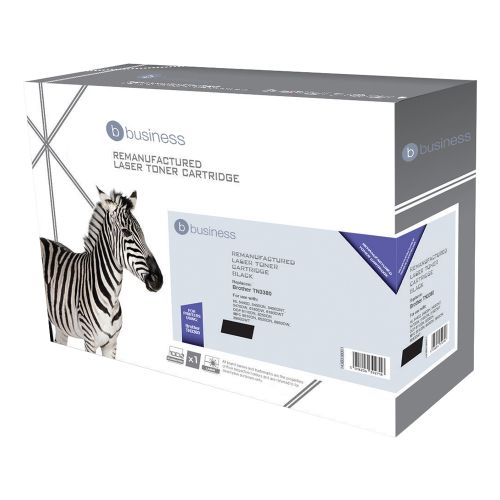 Business Remanufactured Laser Toner Cartridge Page Life 8000pp Black [Brother TN3380 Alternative]