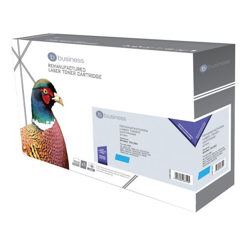 Business Remanufactured Laser Toner Cartridge Page Life 4000pp Cyan [Brother TN135C Alternative]