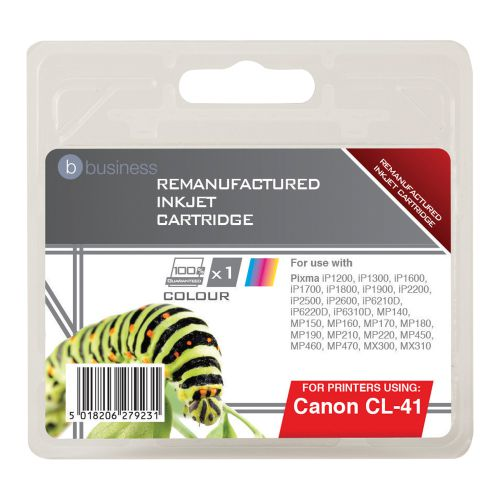 Business Remanufactured Inkjet Cartridge Page Life 308pp Colour [Canon CL-41 Alternative]