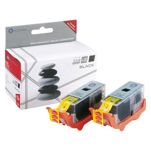 Business Remanufactured Inkjet Cartridge 323pp Black Twinpack [Canon PGI-525BK Alternative]