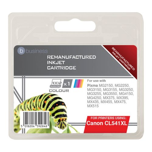 Business Remanufactured Inkjet Cartridge Page Life 400pp Tri-Colour [Canon CL-541XL Alternative]