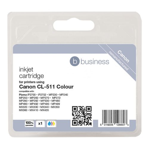 Business Remanufactured Inkjet Cartridge [Canon CL-511 Alternative] Colour