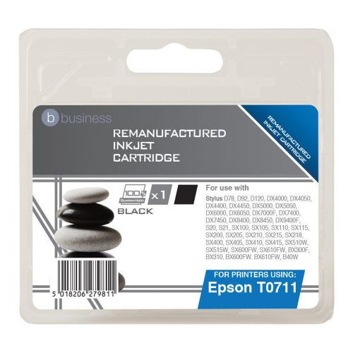 Business Remanufactured Inkjet Cartridge Capacity 7.4ml Black [Epson T0711 Alternative]