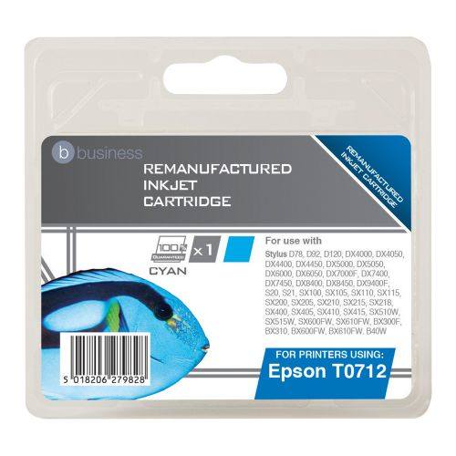 Business Remanufactured Inkjet Cartridge Cyan [Epson T071240 Alternative]