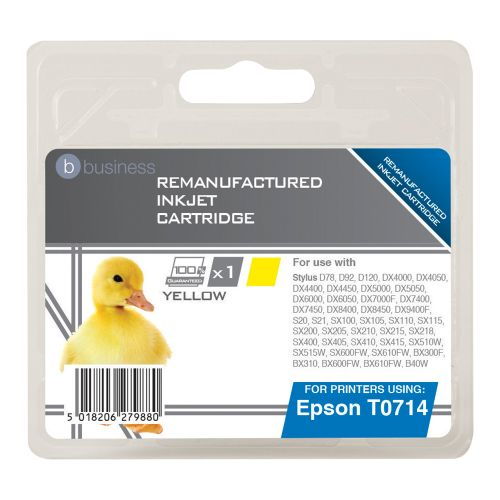 Business Remanufactured Inkjet Cartridge Yellow [Epson T071440 Alternative]