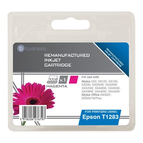 Business Remanufactured Inkjet Cartridge Capacity 3.5ml Magenta [Epson T1283 Alternative]