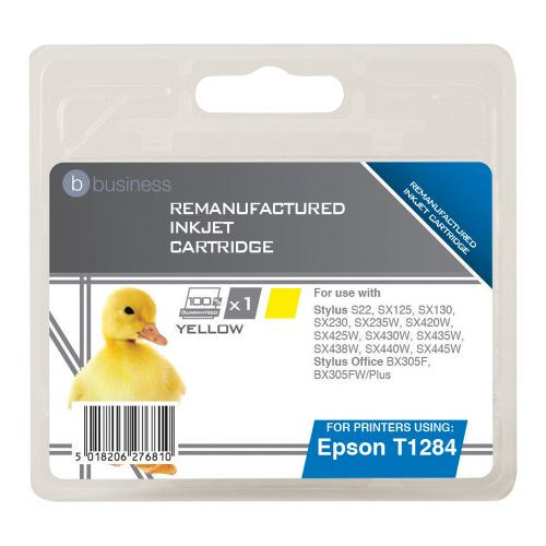 Business Remanufactured Inkjet Cartridge Capacity 3.5ml Yellow [Epson T1284 Alternative]