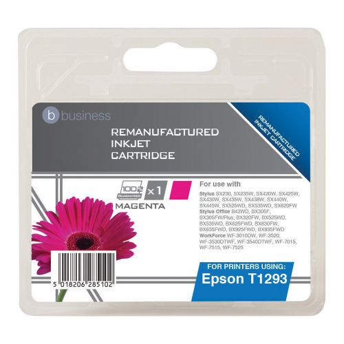 Business Remanufactured Inkjet Cartridge Capacity 7ml Magenta [Epson T12934011 Alternative]