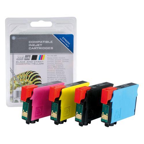 Business Remanufactured Inkjet Cartridges C/M/Y/K [Epson T12954010 Alternative] [Pack 4]