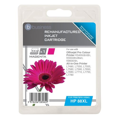 Business Remanufactured Inkjet Cartridge Page Life 1200pp Magenta [HP No. 88XL C9392A Alternative]