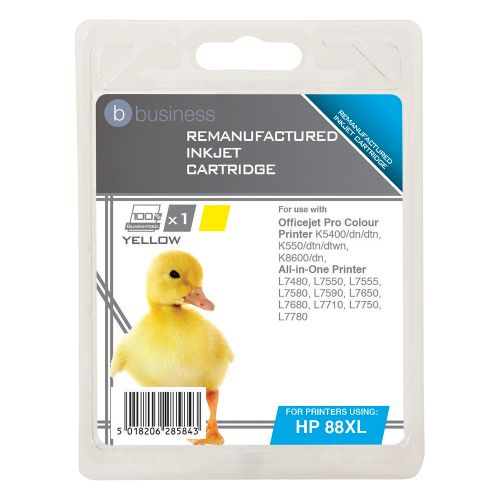 Business Remanufactured Inkjet Cartridge Page Life 1200pp Yellow [HP No. 88XL C9393A Alternative]