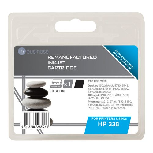 Business Remanufactured Inkjet Cartridge Page Life 450pp Black [HP No. 338 C8765EE Alternative]