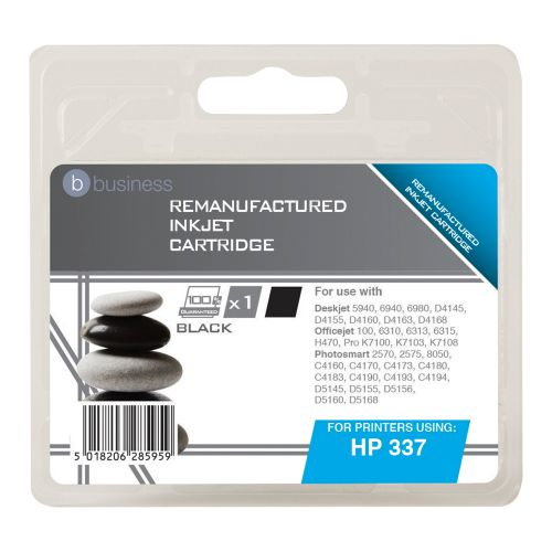 Business Remanufactured Inkjet Cartridge Page Life 400pp Black [HP No. 337 C9364EE Alternative]