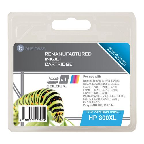 Business Remanufactured Inkjet Cartridge Page Life 440pp Colour [HP No. 300XL CC644EE Alternative]