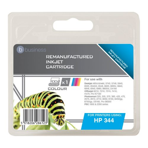 Business Remanufactured Inkjet Cartridge Page Life 450pp Colour [HP No. 344 C9363EE Alternative]
