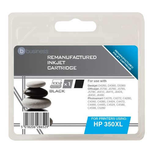 Business Remanufactured Inkjet Cartridge Page Life 1000pp Black [HP No. 350XL CB336EE Alternative]