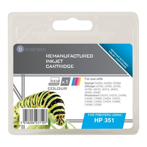 Business Remanufactured Inkjet Cartridge Page Life 170pp Colour [HP No. 351 CB337EE Alternative]