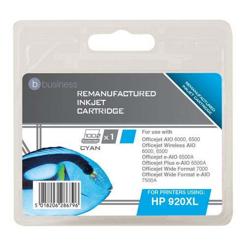 Business Remanufactured Inkjet Cartridge Page Life 700pp Cyan [HP No. 920XL CD972AE Alternative]