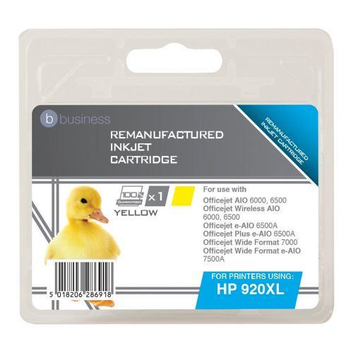 Business Remanufactured Inkjet Cartridge Page Life 700pp Yellow [HP No. 920XL CD974AE Alternative]