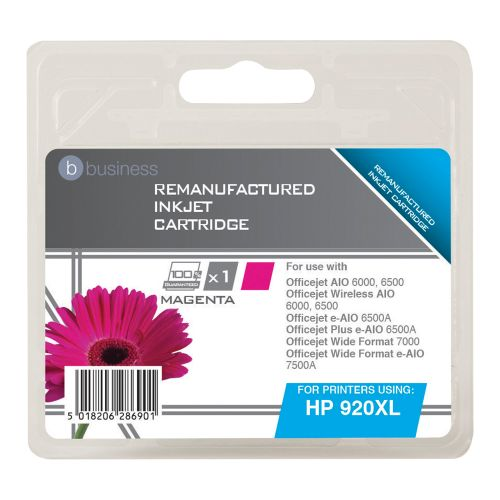 Business Remanufactured Inkjet Cartridge Page Life 700pp Magenta [HP No. 920XL CD973AE Alternative]