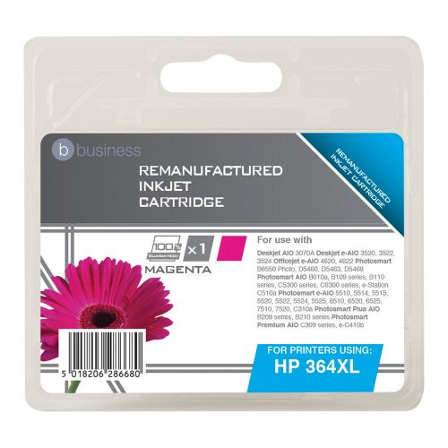 Business Remanufactured Inkjet Cartridge Page Life 750pp Magenta [HP No. 364XL CB324EE Alternative]